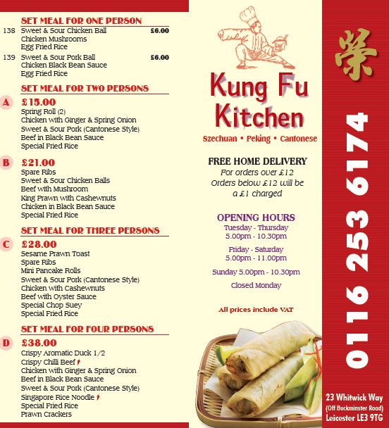 Chinese Kitchen Menu: Kung Fu Kitchen Chinese Restaurant On Whitwick Way