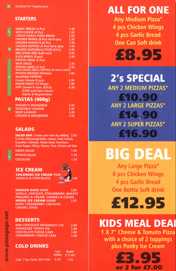 Pizza Gogo Pizza Restaurant On Charles St Leicester Everymenu