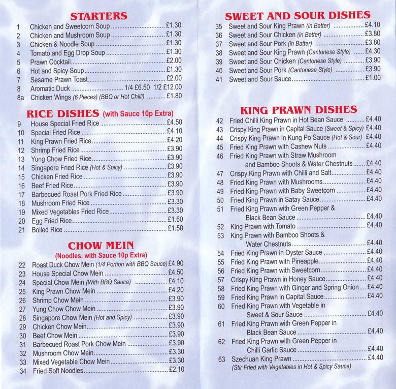 Kebab Kitchen Burnham Menu