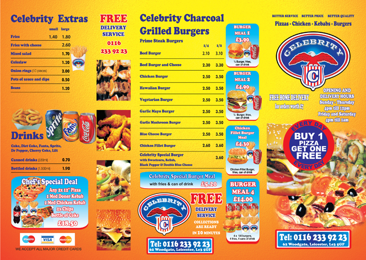Celebrity - Leicester, United Kingdom - Food & Beverage ...
