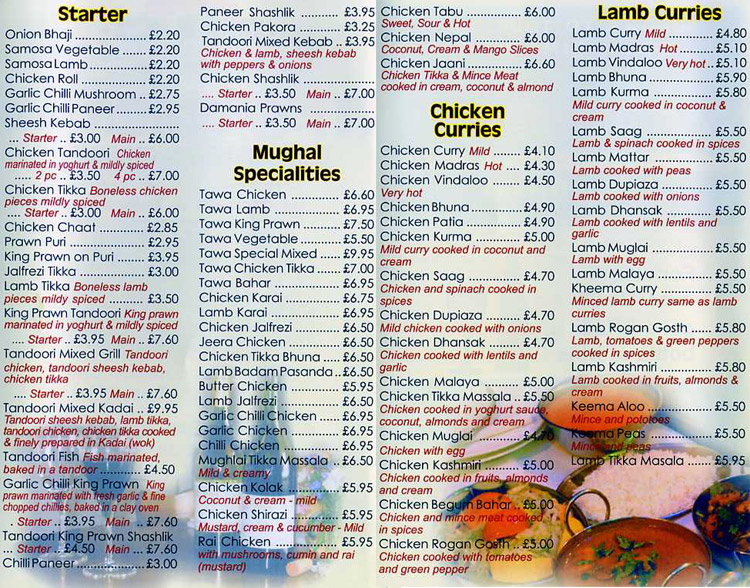 Mughal crown indian restaurant on leicester rd leicester for Cuisine of india wigston