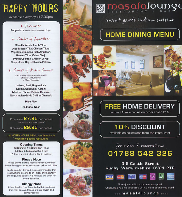 Masala Lounge Indian Restaurant On Castle St, Rugby