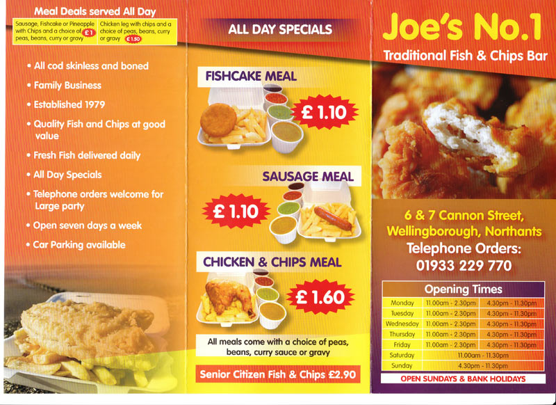 Joe 39 S No 1 Fish Chips Takeaway On Cannon St
