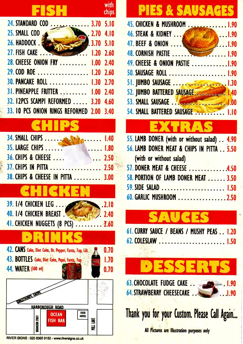 Fish and chicken fry flyer for Fish and chicken menu