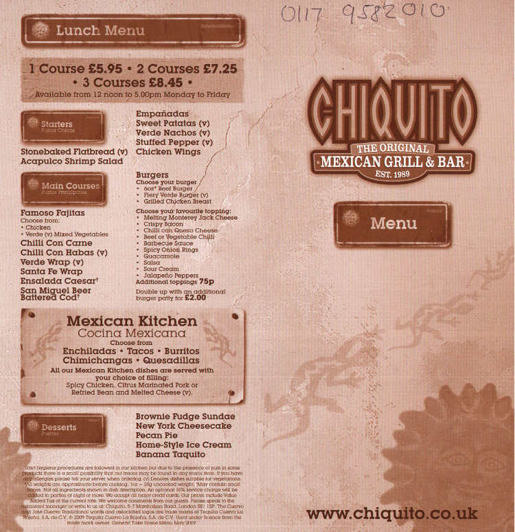Chiquito mexican restaurant on aspects leisure park - Chiquitoweb com ...