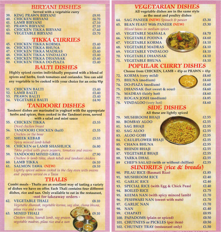 Bristol County Restaurant Menu