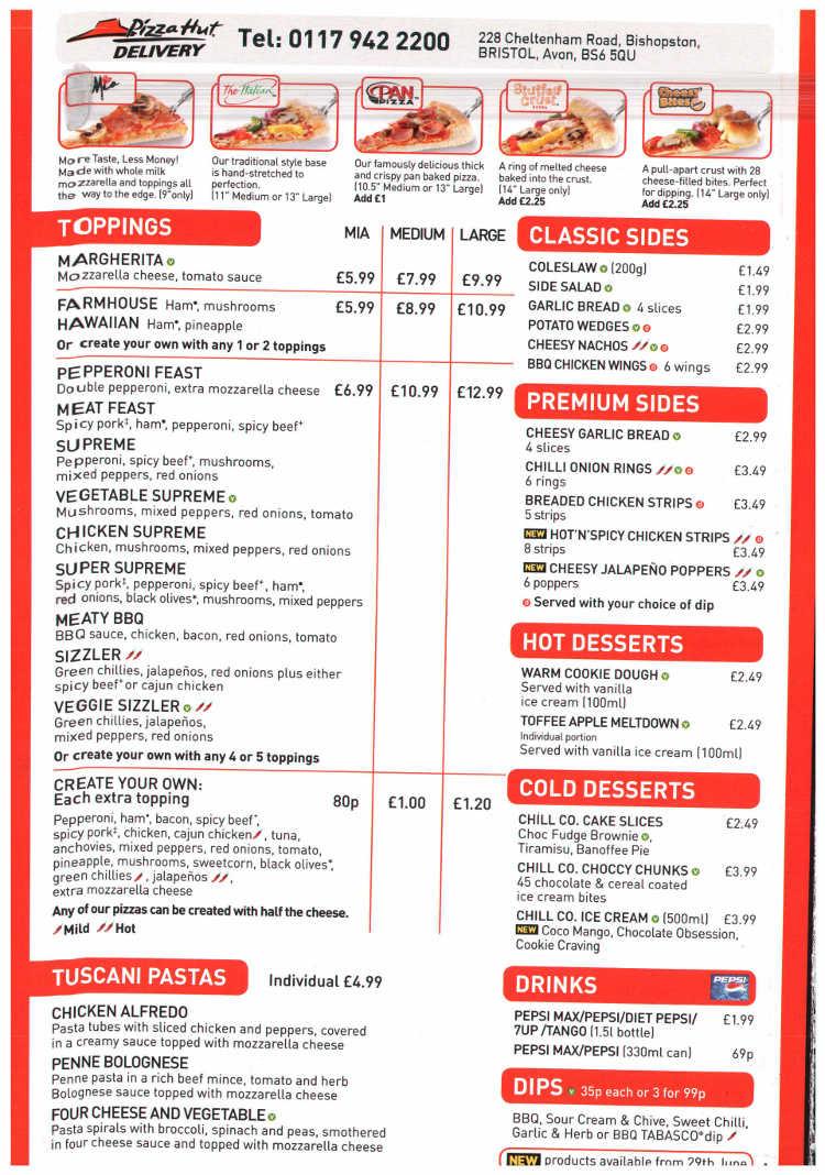 Pizza Hut Pizza Restaurant On Cheltenham Road Bristol