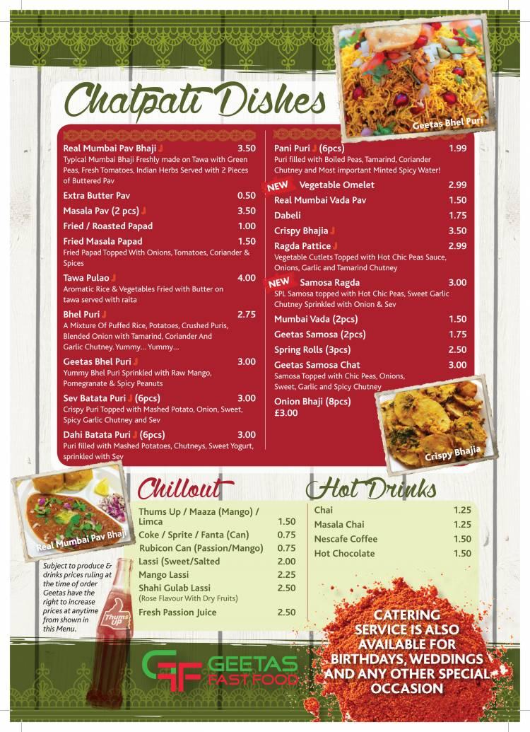 Geetas Fast Food Indian Restaurant On Melton Road